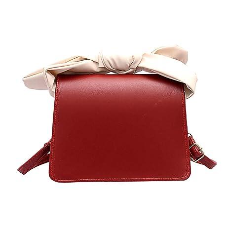 Bolso de hombro de piel de color sólido con correa fina ...