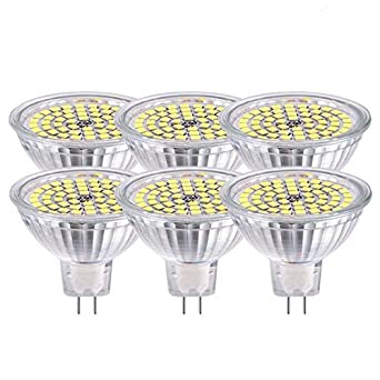GVOREE MR16 12V LED GU5.3 Bombillas Led Lámpara Naturaleza Luz del día Blanco 4000K CA ...