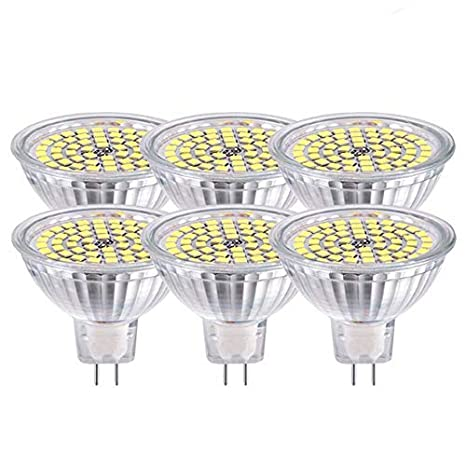 GVOREE MR16 12V LED GU5.3 Bombillas Led Lámpara Naturaleza Luz del día Blanco 4000K