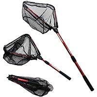 MelkTemn Fishing Net, Fish Net Foldable Fish Landing Net...
