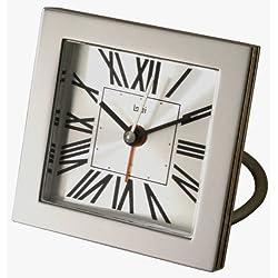 Bai Square Diecast Solid Metal Travel Alarm Clock, Roma