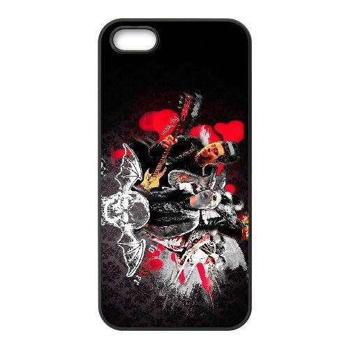 Avenged Sevenfold 013 coque iPhone 4 4S cellulaire cas coque de téléphone cas téléphone cellulaire noir couvercle EEEXLKNBC23235
