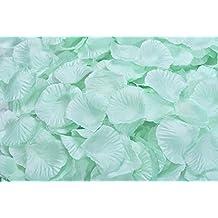 Ocharzy 1000pcs Silk Rose Petals Wedding Flower Decoration (Mint Green)