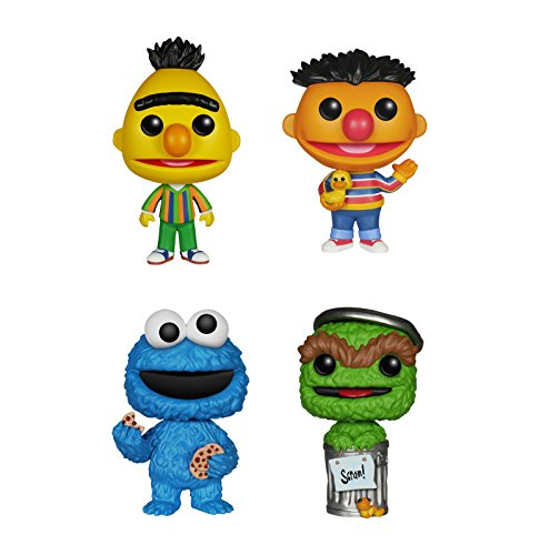 Funko Sesame Street POP! TV Vinyl Collectors Set: Bert, Ernie, Cookie Monster & Oscar Grouch Action Figure