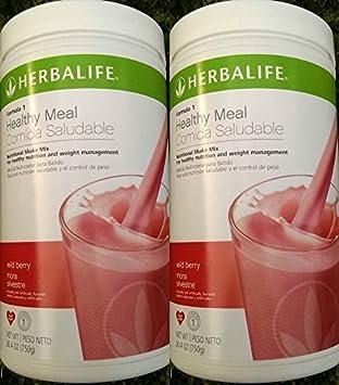 Amazon.com: 2 Herbalife Fórmula 1 batido nutricional Wild ...