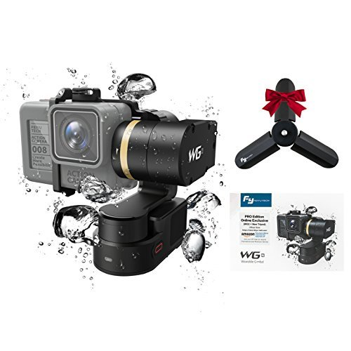 FeiyuTech WG2 3-Axis Wearable Gimbal with New Tripod for Action Camera GoPro Hero 6 5 4 Session, Yi 4K, AEE, SJCam,Bluetooth Enabled