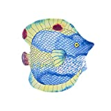Encore Concepts Heavyweight Handmade Melamine Fish Serving Platter - Swimmingly Collection - 16 Inches - Look & Feel of Hand Painted Ceramic or Stoneware