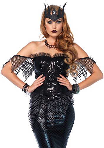 Leg Avenue Women's Dark Water Mermaid Siren Costume, Black, Small -