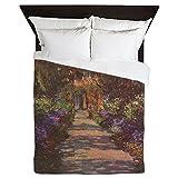 CafePress - Monet Garden Path - Queen Duvet Cover, Printed Comforter Cover, Unique Bedding, Microfiber