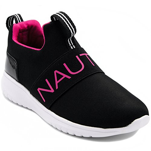 Nautica Kids Girls Youth Fashion Sneaker Running Shoes-Black for sale  Delivered anywhere in USA