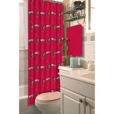 The Northwest Company NCAA University of Louisville Cardinals Shower Curtain - Large Ncaa Bath