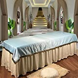 LWZY Linens Massage table sheet,waterproof sheets,spa linens/cosmetic sheets/special sheets for beauty sheets-B 115x230cm(45x91inch)