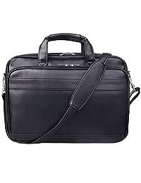 Jack&Chris® Men's PU Leather Briefcase Messenger Bag Laptop Bag, MBYX014