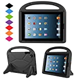 Kids Case for iPad 2 3 4- TIRIN Shock Proof Convertible Handle Light Weight Durable Super Protective Stand Cover for iPad 4 - iPad 3 & iPad 2 2nd 3rd 4th Generation Tablet - Black