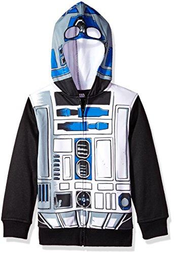R2d2 Child Costumes (Star Wars Big Boys' R2d2 Sublimated Fleece Zip Costume Hoodie, Multi, 8)