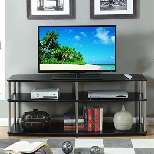 Convenience Concepts Designs2Go 3-Tier TV Stand, 60-Inch, Black - Stand Assembly