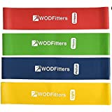 "WODFitters Resistance Loop Exercise Bands - 4 x 10"" Mini Bands for Kids Sports, Warm Up, Workout and Fitness - Great for Muscle Activation, Baseball, Basketball, Football and Sports Training"
