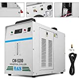 Mophorn Water Chiller 6L Capacity Industrial Water Chiller CW-5200DG Thermolysis Type Industrial Water Cooling Chiller for 130W /150W CO2 Laser Tube Cooler (CW-5200DG)
