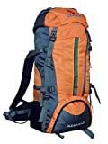 Gleam 2209 Climate Proof Mountain Trekking & Rucksack Backback 75Litres Orange & Grey with Rain Cover
