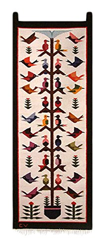 NOVICA 58395 Hummingbird Song Wool Tapestry