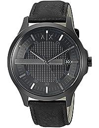 Armani Exchange AX2400 Watch, Men, Dress Black Leather