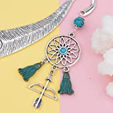 Hook Bookmarks 3 Pack - Metal Antique Style (Dreamcatcher, Hamsa and Heart)