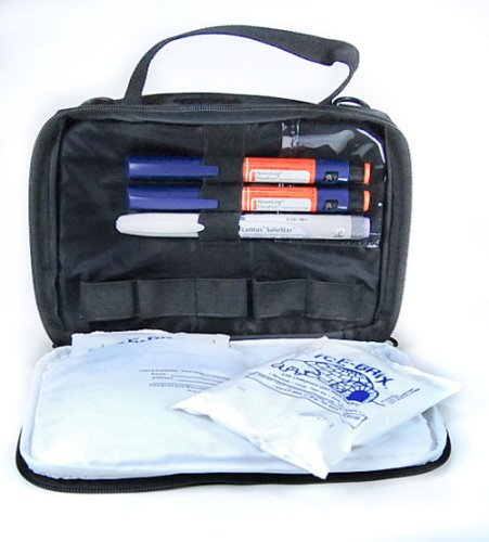 Medport Diabetes Travel Organizer From GMS Holds Two Weeks Supplies/ Will Hold Syringes,vials Pens Secure - Cold for 12 hours, Cools for up to 18 Hrs Comes with 2-6 Oz Cold-Gel Paks