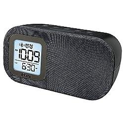 iHome Compact Bluetooth Dual Alarm Clock Radio with Large Display Speakerphone & Lightning Dock