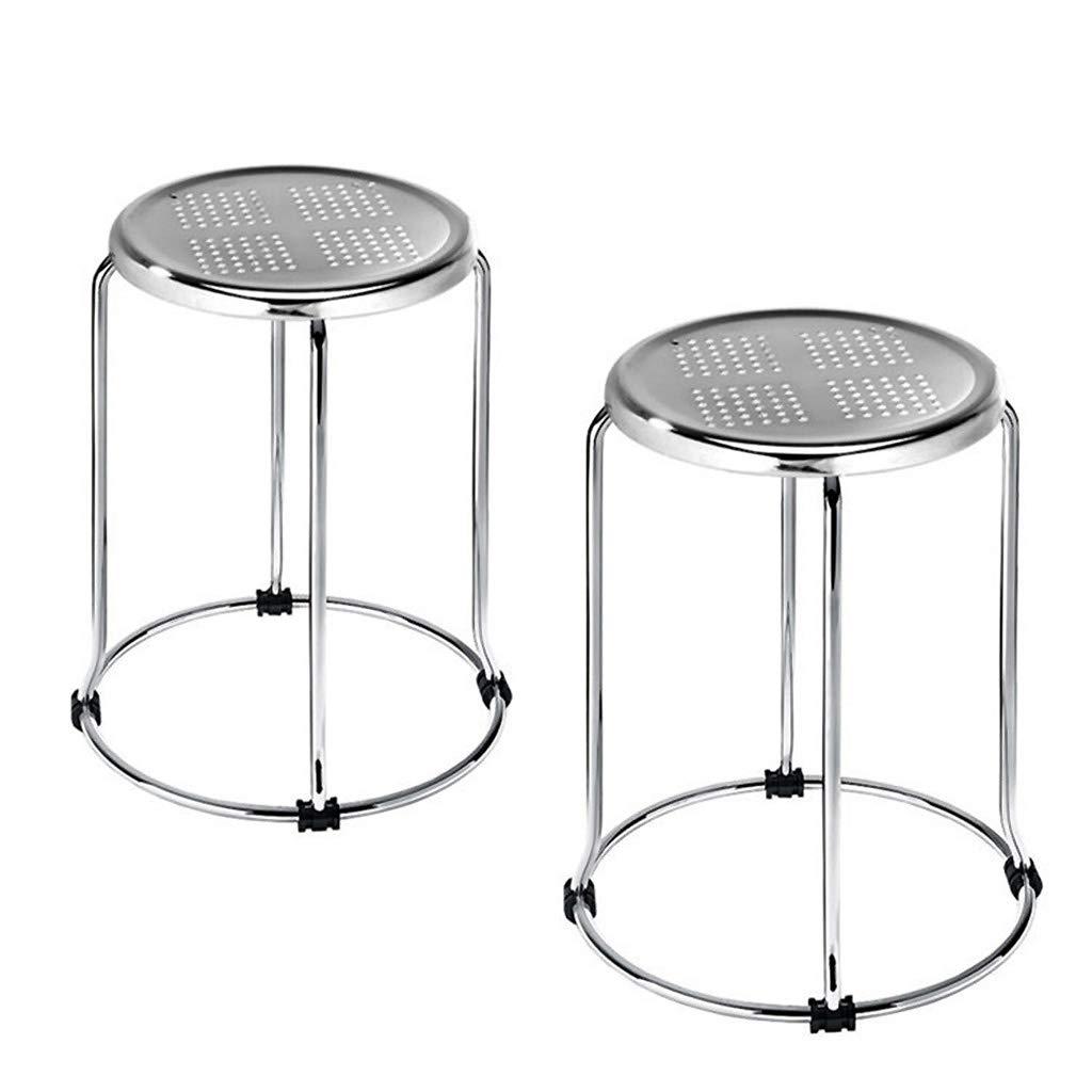 Surprising Amazon Com Jykoo 2 Pieces Iron Stool Small Round Bench Creativecarmelina Interior Chair Design Creativecarmelinacom