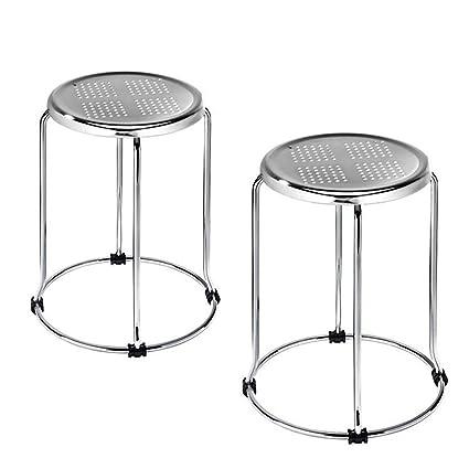 Incredible Amazon Com Jykoo 2 Pieces Iron Stool Small Round Bench Creativecarmelina Interior Chair Design Creativecarmelinacom