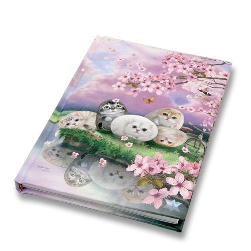 (Cats Printed Journal Notebook By Henry Cats and Friends Cherry Blossom Hardcover Travel Diary Composition Notebook)