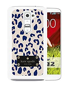 Fashionable And Unique Designed Kate Spade Cover Case For LG G2 White Phone Case 163