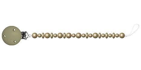 Baby Chupete con cadena de perlas de madera. Sin nombre - oro cadena ...