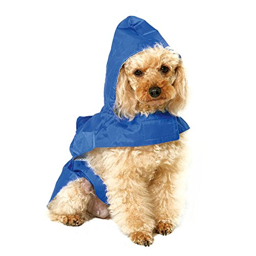 S-Lifeeling Waterproof Pet Raincoat Packable Dog Raincoat Outdoor Rainwear Jacket Clothes 5 Size for Small Medium Dogs, Large (Homemade Firefighter Costume)