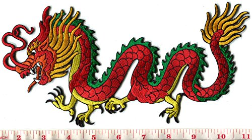 Chinese dragon embroidered applique S 1277