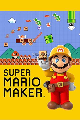 CGC Huge Poster - Super Mario Maker Wii U Nintendo - OTH250 (24' x 36' (61cm x 91.5cm))