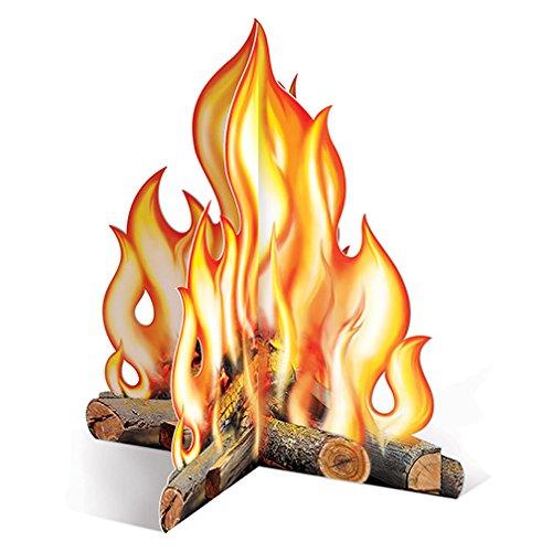 Beistle 57322 3D Campfire Centerpiece, 12-Inch (3-pack)