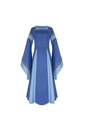 lancoszp Vestido Largo de Noche de Estilo Victoriano Gotico ...