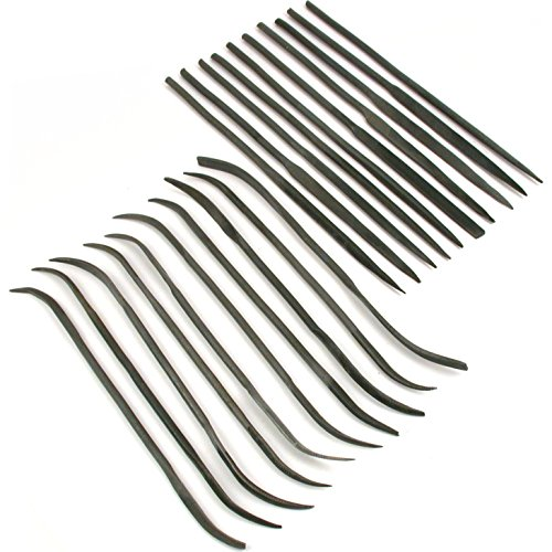 20 Needle Riffler Files Perfect Model Building Tools