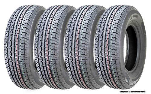 4 Premium Freedom Hauler Trailer Tire ST225 75R15 Radial 10PR Load Range E Steel Belted