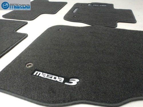 (MAZDA 3 2010-2013 NEW OEM CHARCOAL GRAY FLOOR MATS SET OF FOUR)