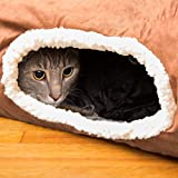 Cat Tunnel, Interactive Play Toy with Crinkle Sound, Fun for Hiding or Zooming in and Out, 100% Pet Friendly, Foldable, Collapsible, Easy to Clean Brown Review
