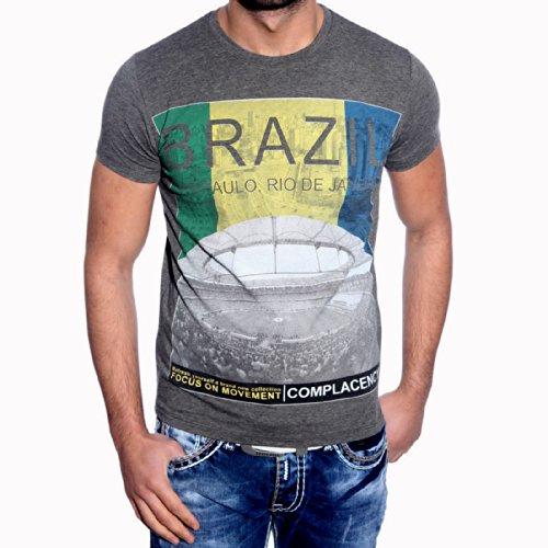 T-Shirt Poloshirt für Herren Männer Jungs Jungen A16657RN, Größe:L, Farbe:Anthrazit