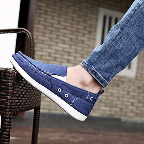 estate uomo di tela uomo Scarpe uomo casuale Blue da Color scarpe Size da da selvaggia scarpe WangKuanHome 40 traspirante Blue tendenza scarpe vzqtgwYz
