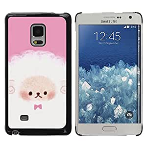 iKiki Tech / Estuche rígido - Puppy Cute Pink White Sheep - Samsung Galaxy Mega 5.8 9150 9152