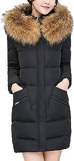 Senoly Frauen Mit Kapuze Outwear Mantel Lange Dicke Kunstpelzkragen Baumwolle Parka Dünne Jacke Casual Streetwear Langen Ärmeln Outwear Einfach Tops