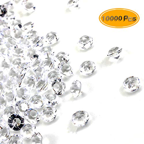 10000PCS PRALB 6MM Party Toy Decorations Clear Acrylic Diamond Confetti For Weddings Vase Filler, Wedding Party Crystal Table Confetti, Birthdays, Graduations more.