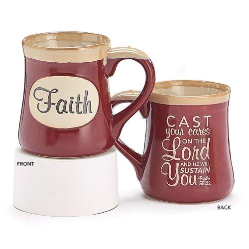Faith 18oz Coffee/Tea Mug Psalm 55:22]()