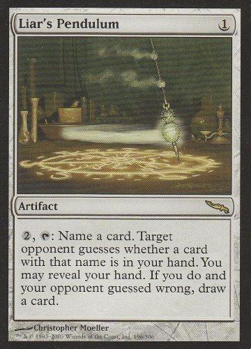 Liar's Pendulum (Magic the Gathering : Mirrodin #196 Rare)