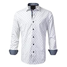 Men's Slim Fit, Long Sleeve Casual Shirt